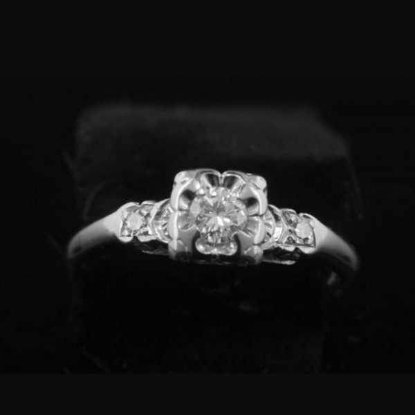 AntiqueEstateDiamondEngagementRing15951