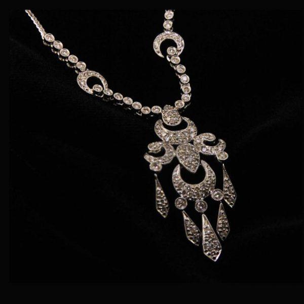 victorian diamond necklace